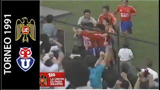 Unión Española 3-1 Universidad De Chile - Campeonato Nacional 1991 - Resumen