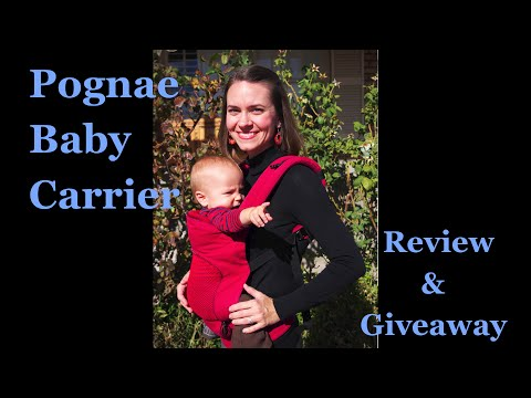 deadd586cc0 Pognae Baby Carrier Review   Giveaway - YouTube