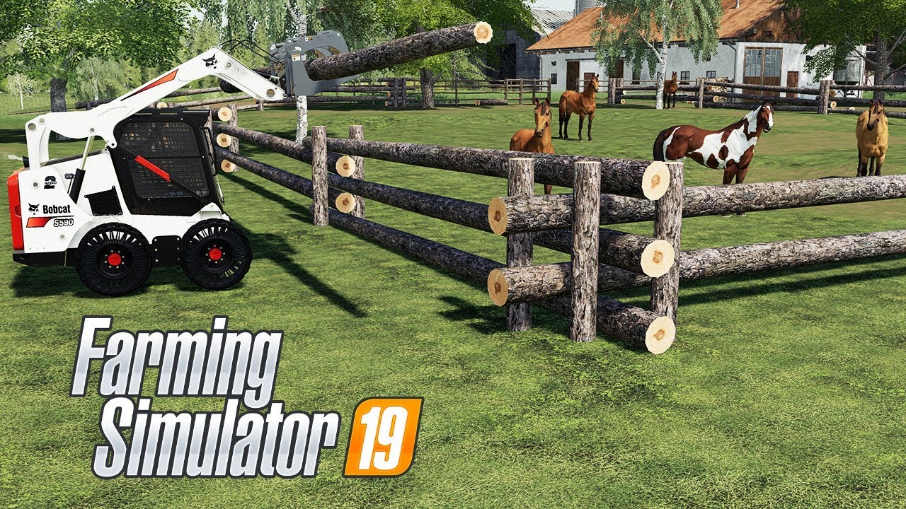 How to Build a Log Fence in Farming Simulator 19 - FS19