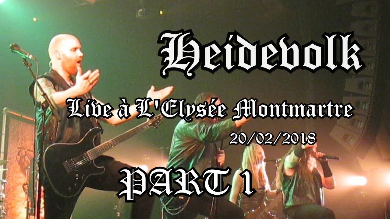 Heidevolk - Live à L'Elysée Montmartre - 20/02/2018 - Part 1