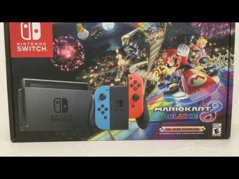 Nintendo Switch Mario Kart 8 Deluxe Bundle Unboxing Black Friday