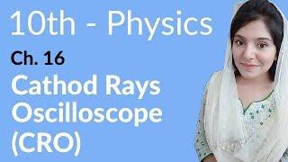 10th Class Physics Ch 16,Cathode Rays Oscilloscope(CRO)-Matric Part 2 Physics Chapter 16