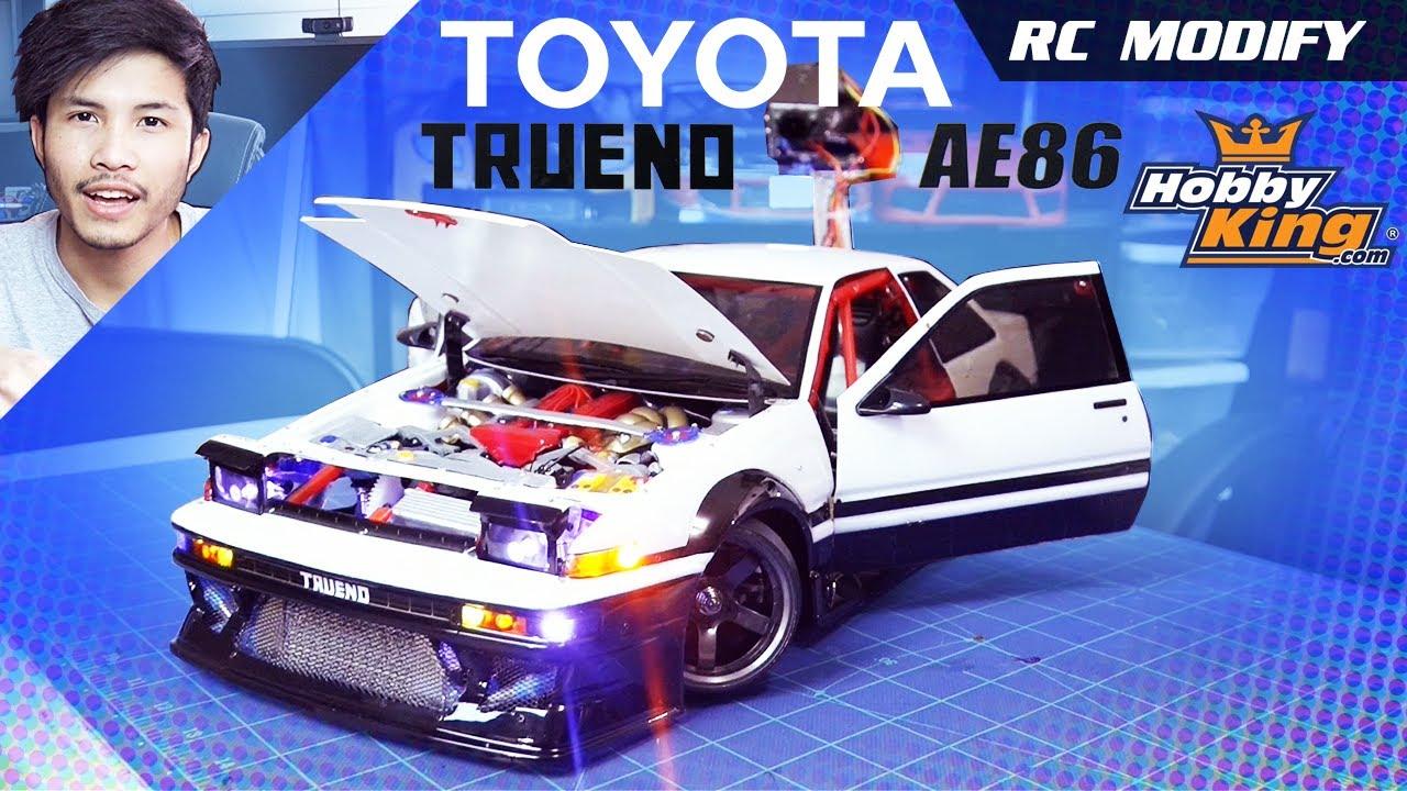 RC Drift Car 4A-GE AE86 Toyota Corolla Engine Bay 1:10 Scale intercooler