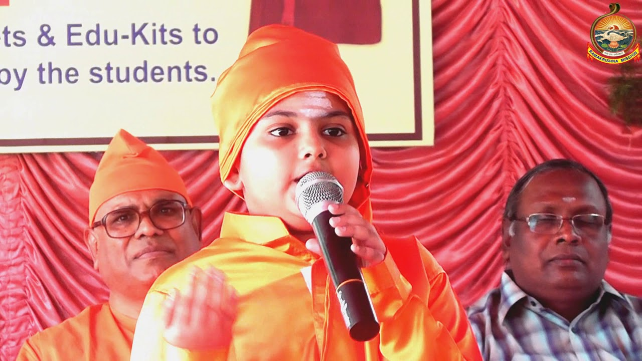 Recitation of Swamiji's  Chigaco Speech by girl students.