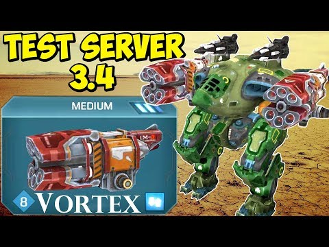 Download Youtube: War Robots Test-Server: New Weapon VORTEX, Reload Button & More
