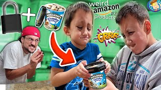 I locked their ben & jerry's ice cream... (FV Family Weird Amazon Items #2)