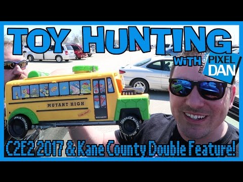 TOY HUNTING with Pixel Dan - C2E2 2017 & Kane County Toy Show Double Feature!
