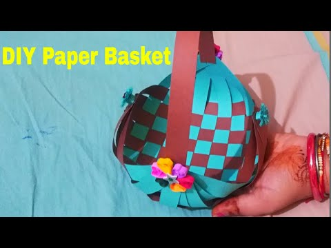 Easy Way to Make Paper Basket / DIY Paper Basket / Paper Craft