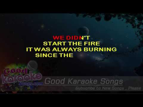 We Didn't Start The Fire -  Billy Joel (Lyrics Karaoke) [ goodkaraokesongs.com ]