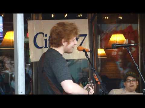 Ed Sheeran singing Happy Birthday