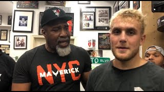 """""""Logan Paul is great for boxing!"""" says trainer & former heavyweight champion Shannon Briggs"""