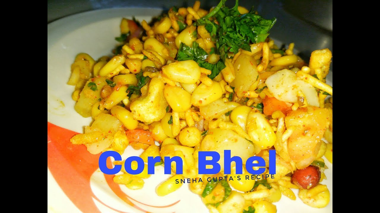 Sweet Corn Bhel Recipe/Kids Snack Recipe/Healthy Corn chaat In Hindi