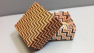 Halloween Origami Zig Zag Pattern Boxes - Print Your Own Paper!