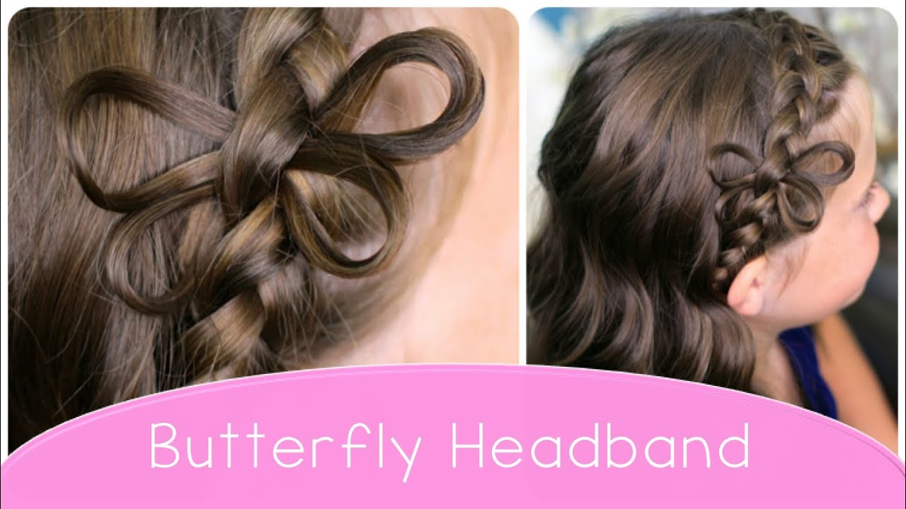 How to make a Butterfly Braided Headband  Cute Hairstyle