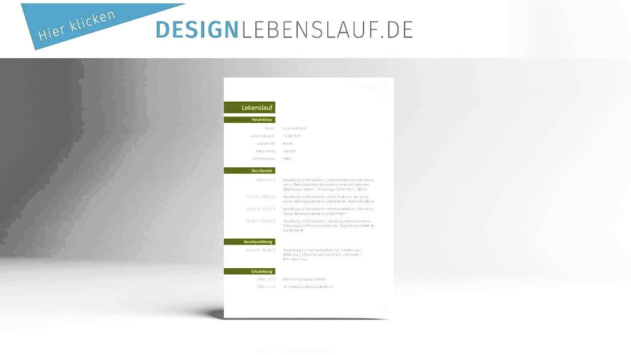 Lebenslauf Vorlage Design fr Word und Open Office  YouTube