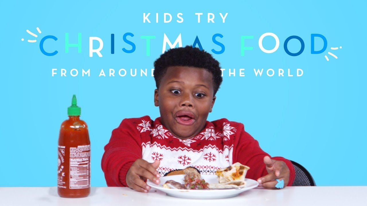 Kids Try Christmas Food from Around the World