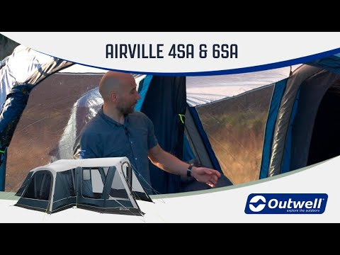 Outwell Airville 4SA & 6SA - Inflatable Air Tent (2020) | Innovative Family Camping