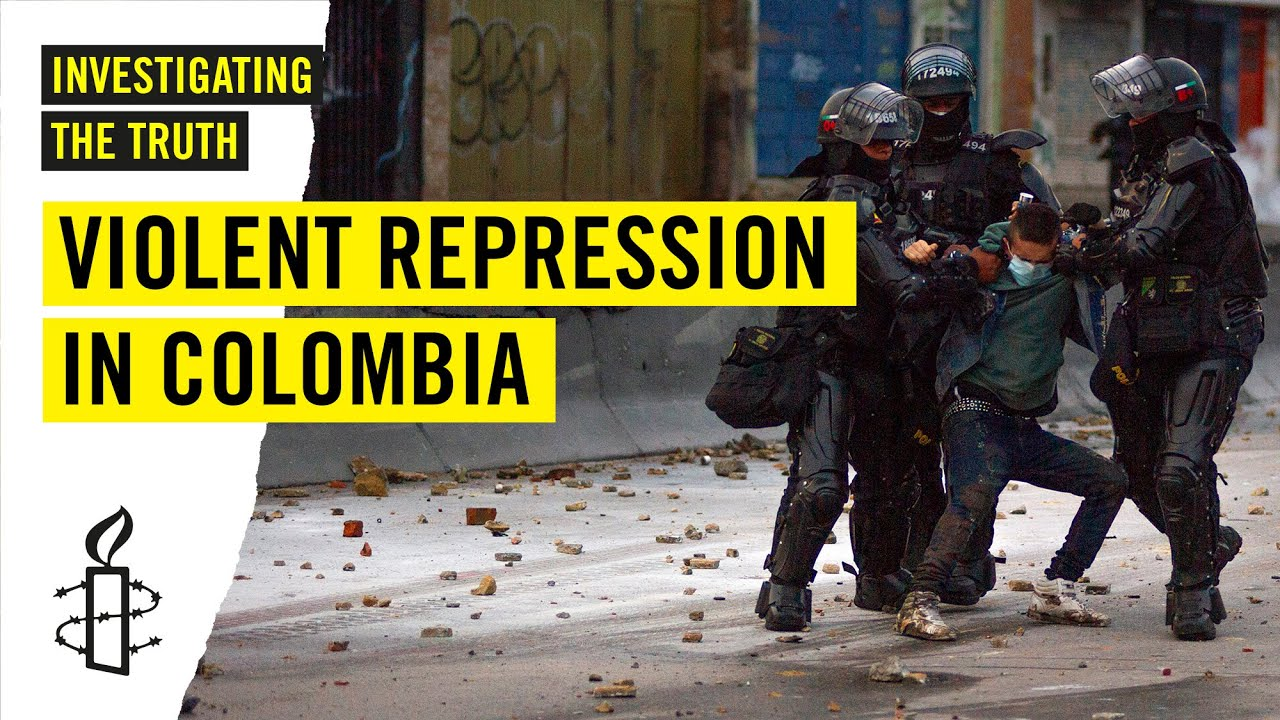 Violent Police Repression During Columbian Protests