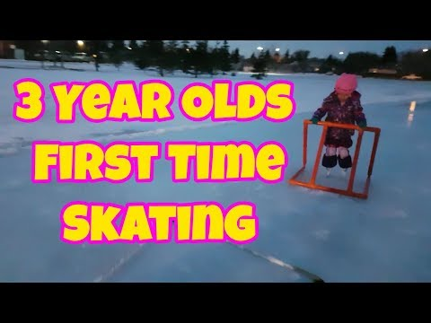 3 Year Old First Time Skating