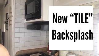 Devine Color Wallpaper// RV Back Splash// Full-Time RV Living