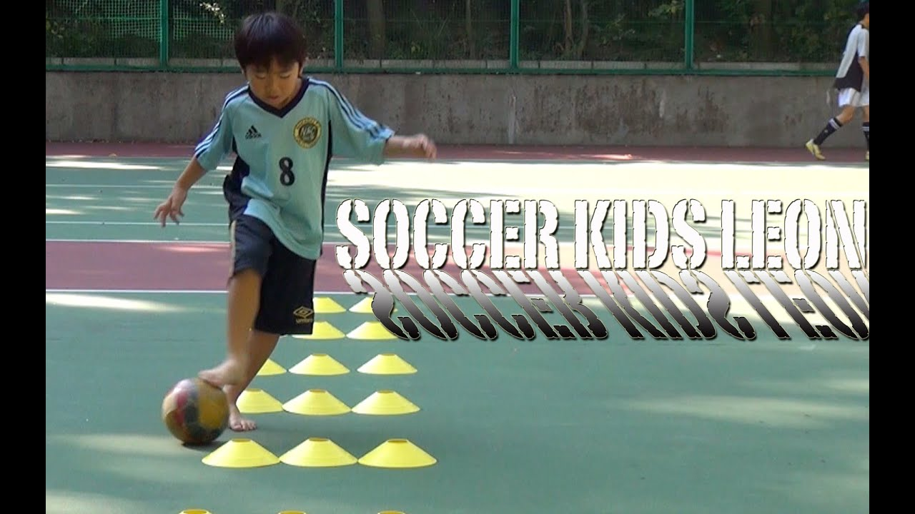 Soccer Training Kid Roll And Push