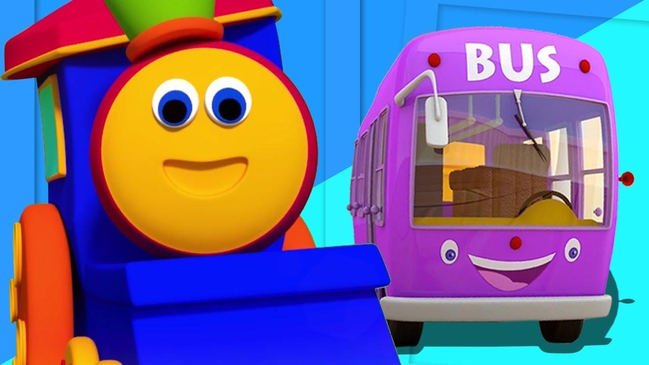 bob le train roues dans le bus bus chanson pour enfants kids rhymes bob wheels on the. Black Bedroom Furniture Sets. Home Design Ideas