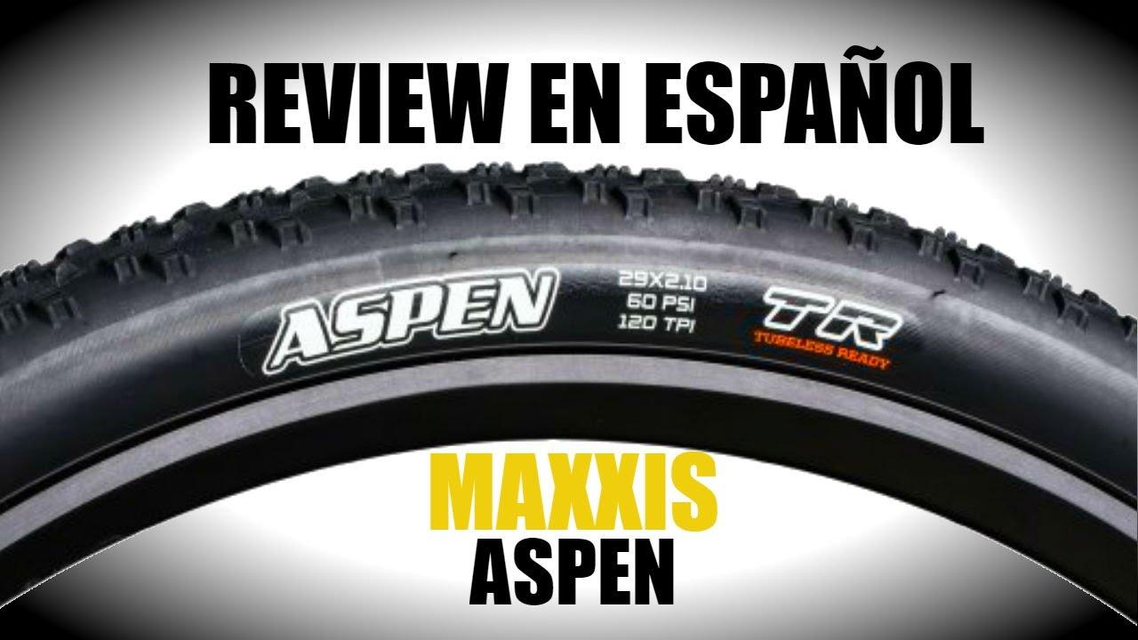 Maxxis Aspen review en español - YouTube