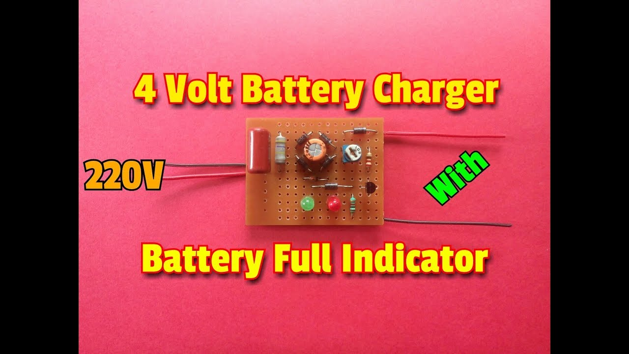 How To Make A Transformer Less 4 Volt Battery Charger Circuit With