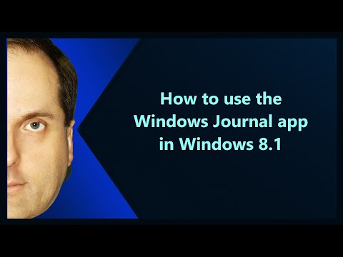 How to use the Windows Journal app in Windows 8.1