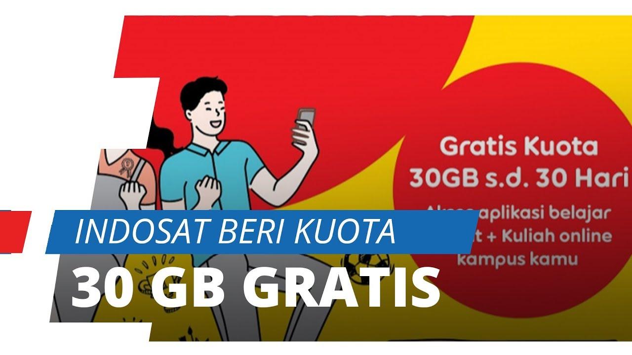 Cara Mengaktifkan Paket Internet Gratis Indosat Ooredoo 30 Gb Di Masa Pandemic Covid 19 Youtube