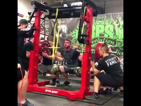 Kyle Brown Squatting 672 At The RPS Valentines Day Massacre In Louisville