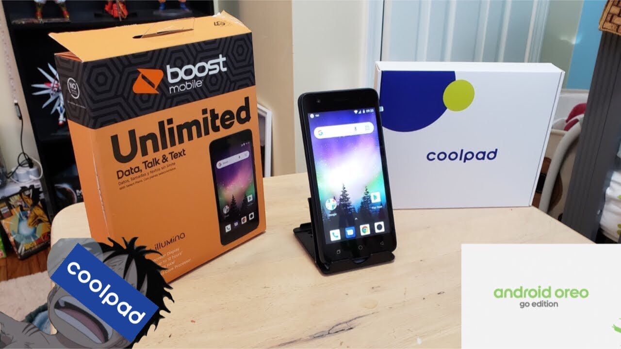 CoolPad Illumina Android Go Unboxing and First Boot Up Boost Mobile HD