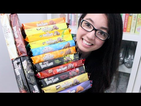 🍪🍫TRYING ALL 16 FLAVOURS OF ARNOTT'S TIM TAMS! | Rosellalee