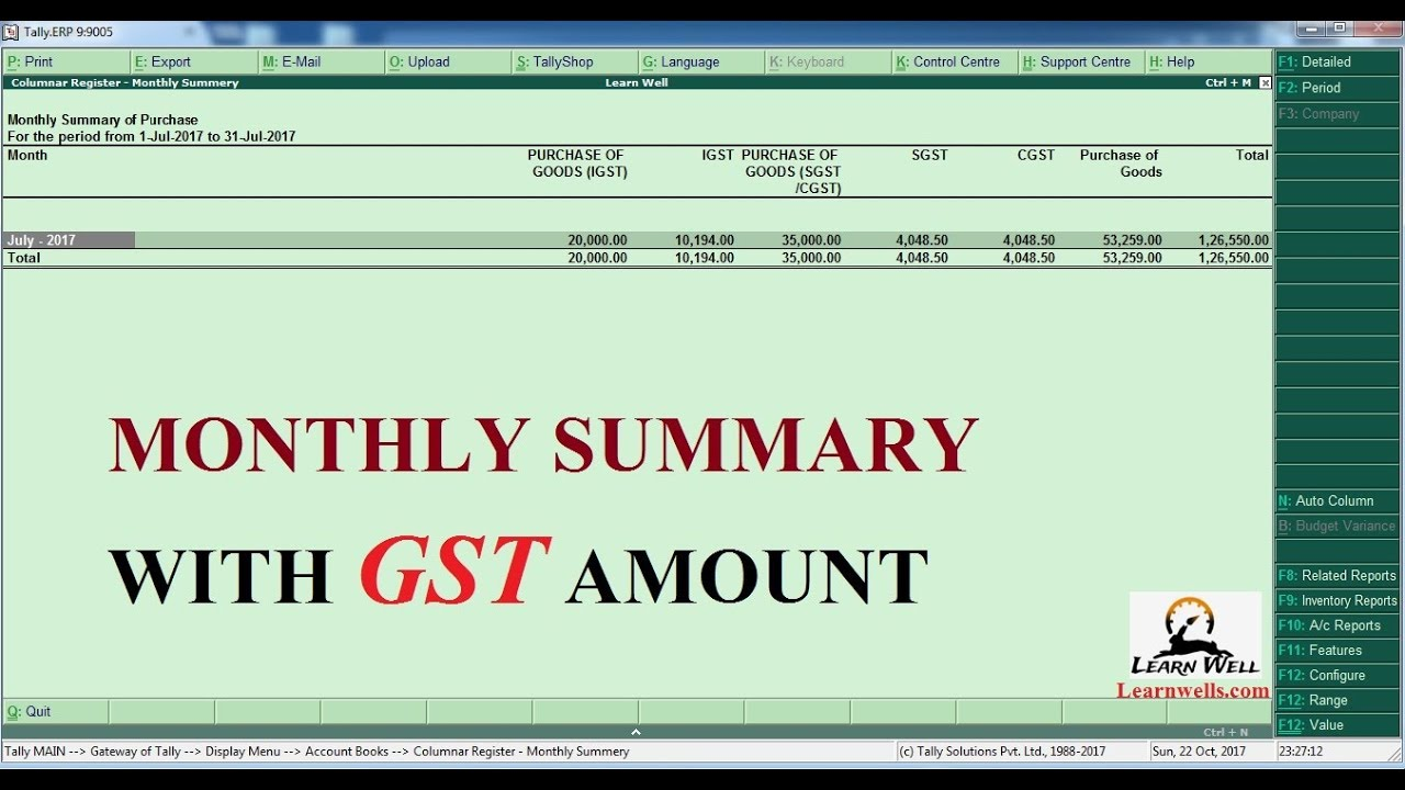 Tally Erp9 - Free TDL - Monthly Sale, Purchase Report with GST