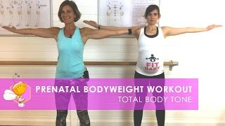 PREGNANCY EXERCISE: TOTAL BODY TONE (30 MINUTES) FOR TRIMESTER 1, 2 OR 3