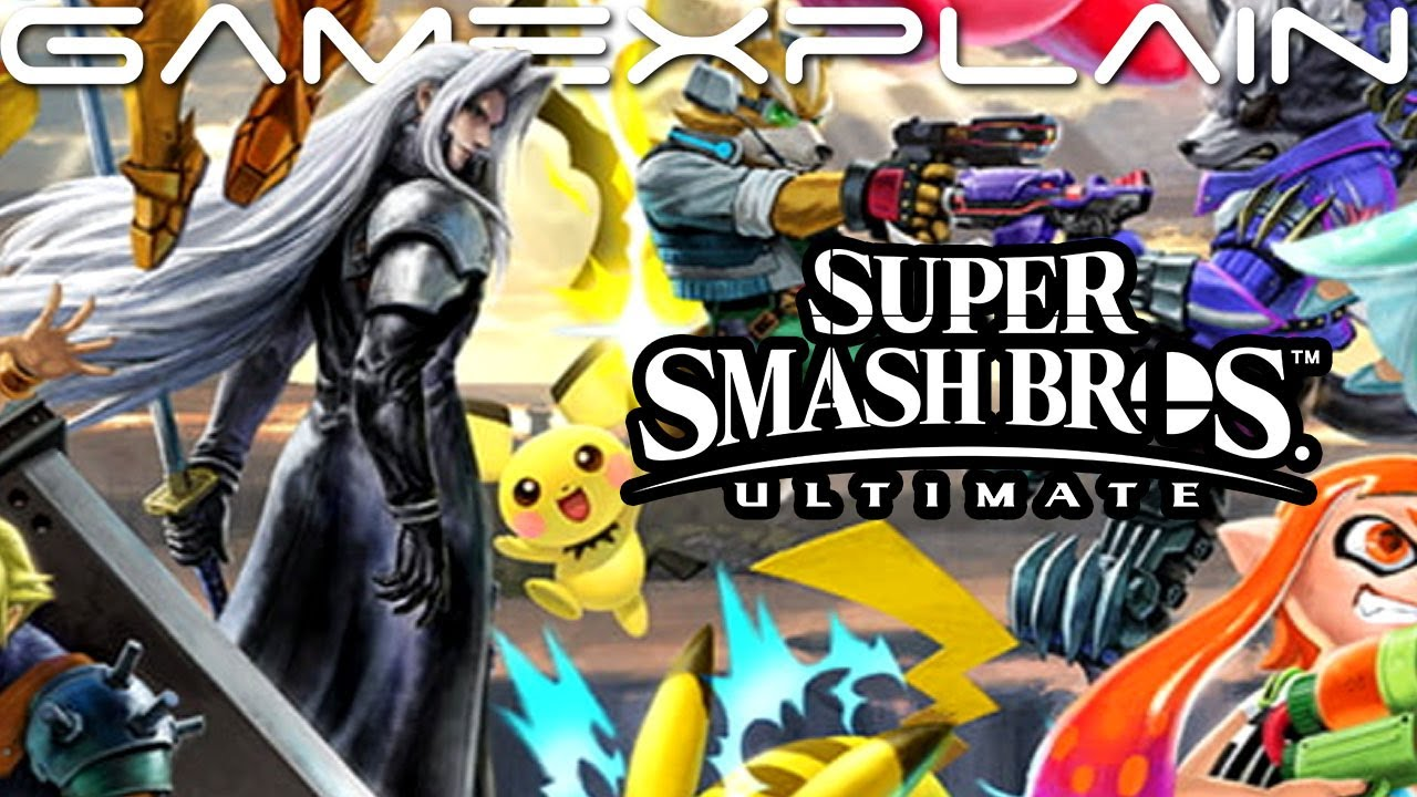sephiroth added to super smash bros ultimate character banner screenshots alt colors