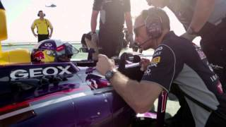 celebrate winning  - Red Bull Racing Celebrates on Burj Al Arab