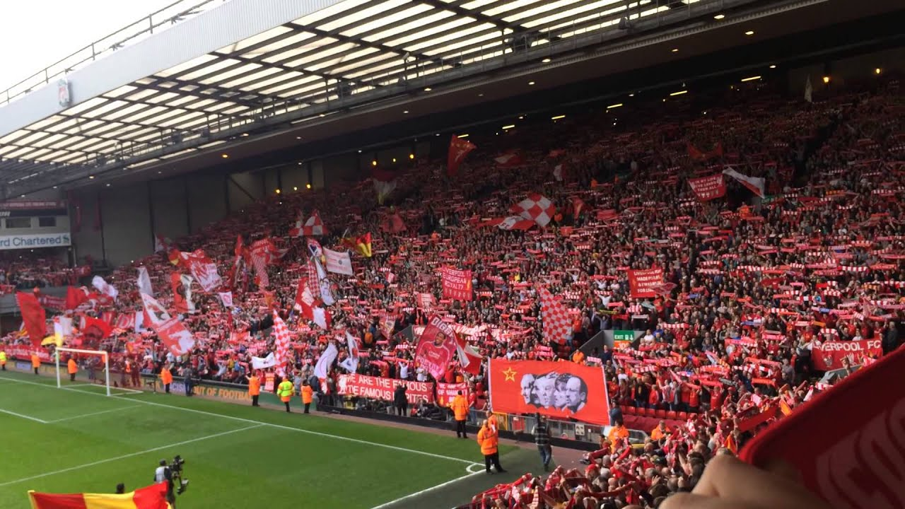 357ac9356 Awesome You ll Never Walk Alone liverpool vs chelsea 27.04.2014 ...