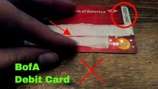 ✅ Bank of America Checking Debit Card Review 🔴