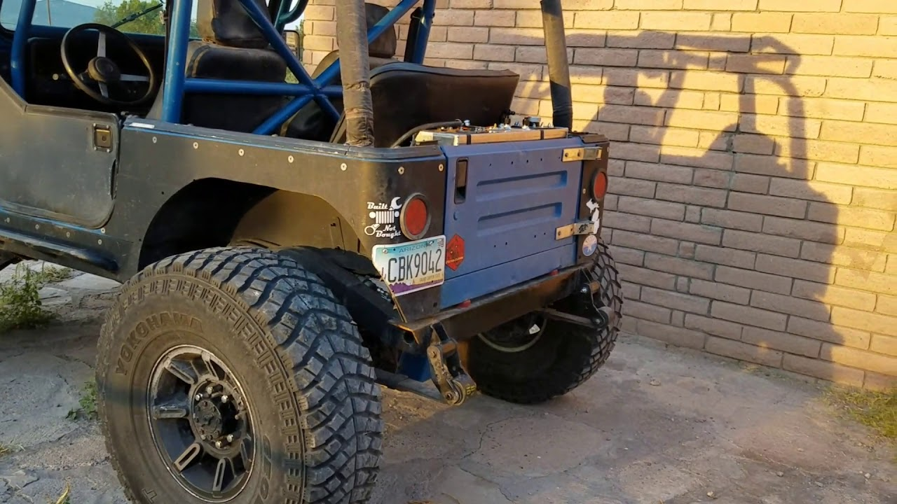 Jeep YJ Build: RCI fuel cell and prp bench seat