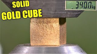 How Strong is Gold or Silver? Hydraulic Press Test!