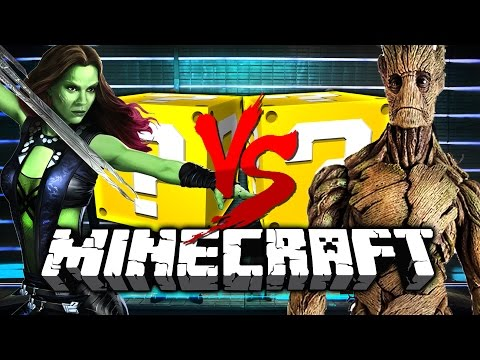 Minecraft: GUARDIANS OF THE GALAXY 2 LUCKY BLOCK CHALLENGE  SPACE BATTLES!!