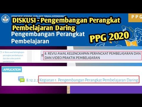 DISKUSI -  PENGEMBANGAN PERANGKAT PEMBELAJARAN DARING   PPG 2020