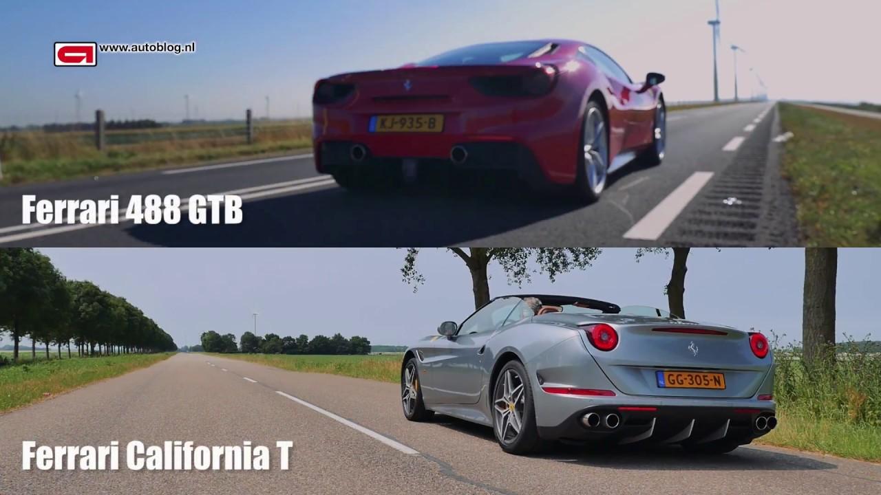 Ferrari 488 GTB vs Ferrari California T - YouTube