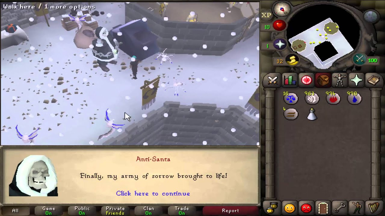 Runescape 2007 - Christmas event 2015 - YouTube
