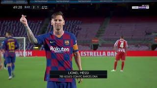 Gol 700 De Messi, Gol Del Barcelona Sobre Atleti