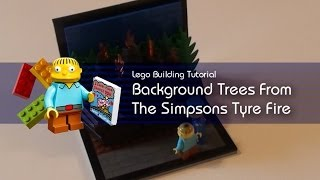 Lego Tutorial - Building Background Trees From The Simpsons Tyre Fire