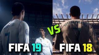 FIFA 19  vs FIFA 18 | Gameplay, Graphics , Players faces, Stadium, Trailer | ft Ronaldo , Neymar