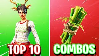 """10 BEST """"Red Nosed Raider"""" SKIN COMBINATIONS in Fortnite! (Best RED NOSED RAIDER Combos)"""