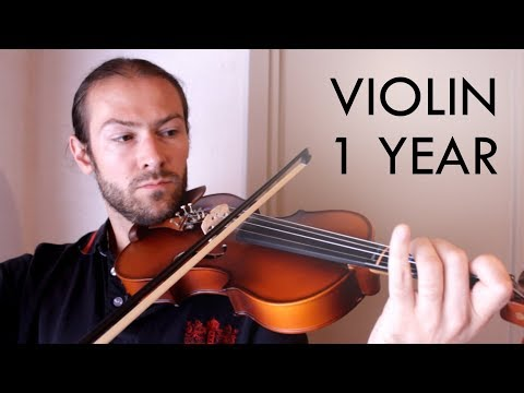 Violin beginner - 1 year progress